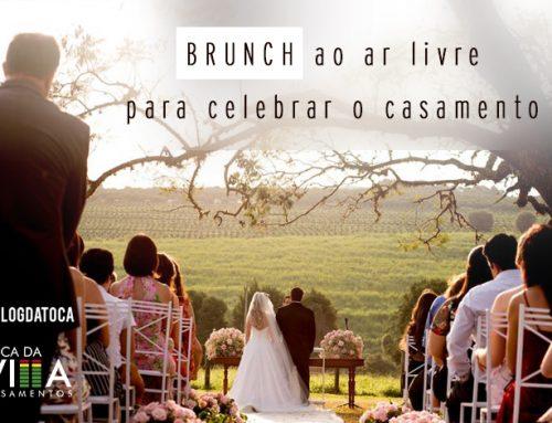 Brunch ao ar livre para celebrar o casamento