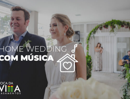 Home wedding com música